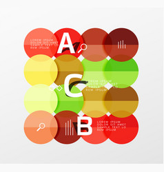 round modern circle option infographic diagram vector image vector image