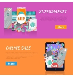 Sale in Electronics Store Web Banners vector image vector image