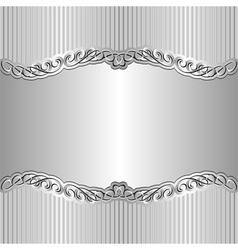 Silver background vector
