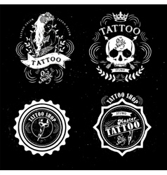 Tattoo old school studio skull vector
