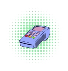 Terminal for credit card icon comics style vector