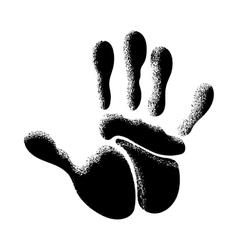 The human hand vector