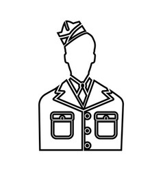 veteran or soldier of the american army icon vector image