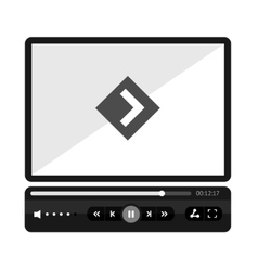 Video player flat skin vector