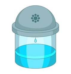 Water filter icon cartoon style vector
