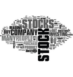 why buy stock text word cloud concept vector image vector image