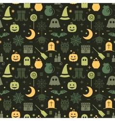 Seamless Halloween pattern vector image