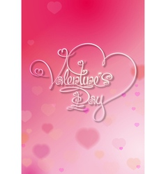 Valentines card valentines day pink vector