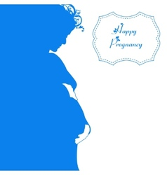 Happy pregnancy background vector