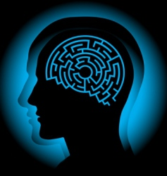 Brain maze vector