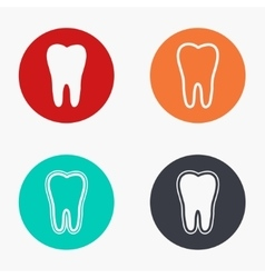 Modern tooth colorful icons set vector
