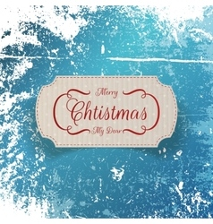 Christmas realistic greeting cardboard label vector