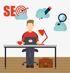 Seo concept design vector