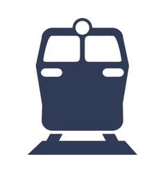 Transportation design train icon flat and vector