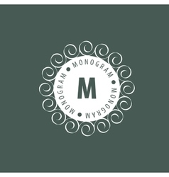 Monogram in frame vector