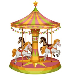 A merry-go-round horse ride vector