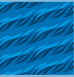 Abstract wave blue seamless pattern vector