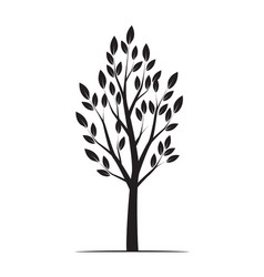 black winter naked tree vector image vector image
