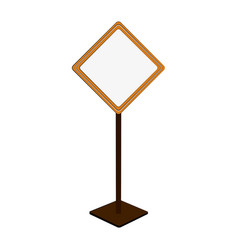 blank road sign icon image vector image