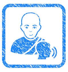 Buddhist confession framed stamp vector