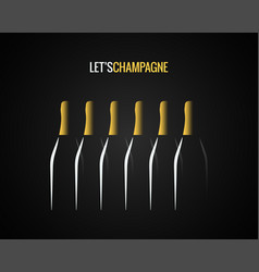 Champagne bottle concept design background vector