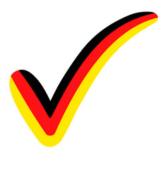 Check mark style germany flag symbol vector