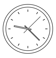 clock icon outline style vector image vector image