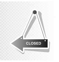 closed sign new year vector image