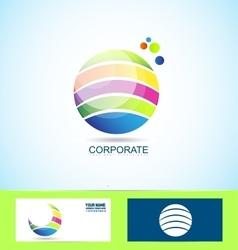 Corporate business sphere logo vector