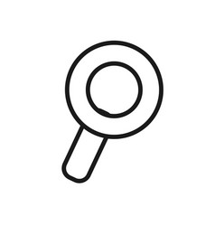 Figure magnifying glass icon search vector