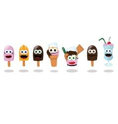 Funny Ice Creams vector image vector image