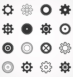 Gear wheel an icon2 vector