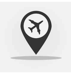 gps navigation style icon with plane vector image vector image