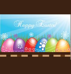 Happy easter eggs vector