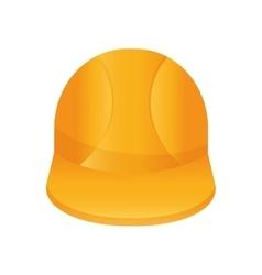 Helmet icon under construction design vector