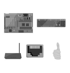 Keyboard router motherboard and connector vector