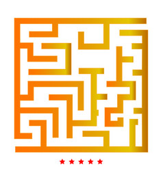 Labyrinth maze conundrum icon flat style vector