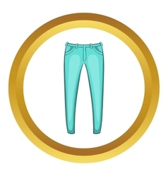 Mens jeans icon vector