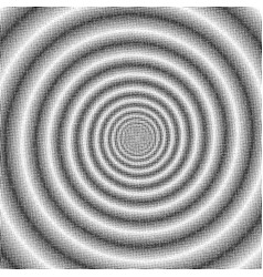 psychedelic spiral halftone effect vector image