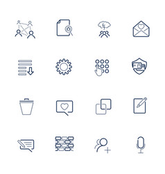 set with ui icons in modern style high quality vector image