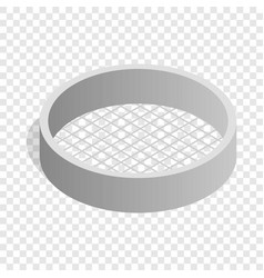 sieve isometric icon vector image
