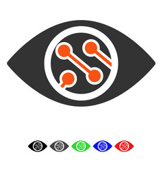 Smart lens flat icon vector