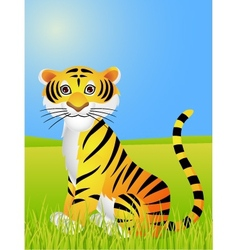Tiger cartoon vector