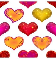 Valentine heart seamless vector image