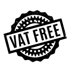 Vat free rubber stamp vector