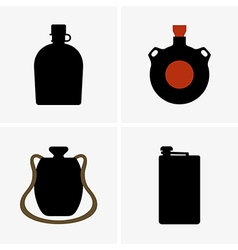 Water flasks vector image vector image