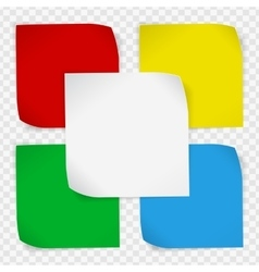 Set of colored paper stickers vector image