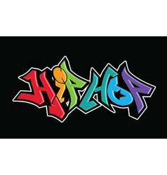 Graffiti urban art design vector image
