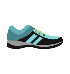 Blue sneaker icon in flat style vector image