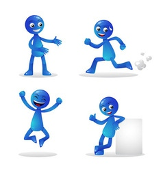 Blue person activity 1 vector